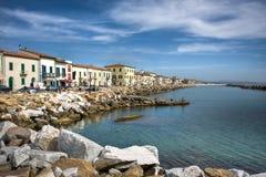 Ansicht des Marciana Jachthafens, Italien. Lizenzfreies Stockfoto