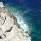 Ansicht des Meeres in Lampedusa lizenzfreie stockfotos