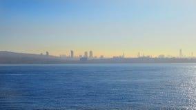 Ansicht des Meeres vom Meer stockbild