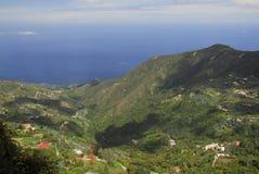 Ansicht des Meeres von der Montierung Avila, Caracas Stockfotografie