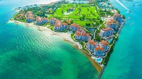Ansicht des Miami Beachs, Südstrand florida USA stockbild