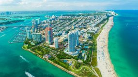 Ansicht des Miami Beachs, Südstrand florida USA stockfoto