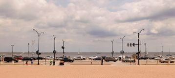 Ansicht des Michigansees stockfotografie