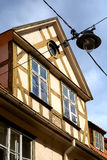 Ansicht des mittelalterlichen Gebäudedachs im Herzen von altem Riga, Lat Stockfotos