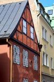 Ansicht des mittelalterlichen Gebäudes in Riga, Lettland Lizenzfreies Stockfoto