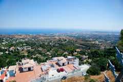 Ansicht des Mittelmeeres Stockbilder