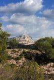Ansicht des Mont Heiligen Victoire, Frankreich Lizenzfreie Stockbilder