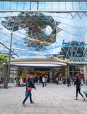 Ansicht des MyZeil-Einkaufszentrums Stockbilder