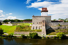 Ansicht des Narva Schlosses Stockfoto