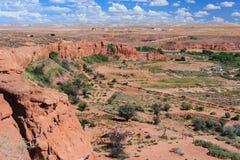 Ansicht des Navajos und des Hopi Nation Reservationss in Arizona USA lizenzfreie stockfotografie