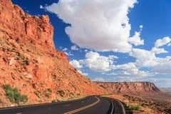 Ansicht des Navajos und des Hopi Nation Reservationss in Arizona USA stockfoto