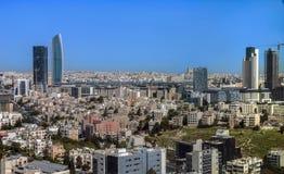 Ansicht des neuen Stadtzentrums moderner Gebäude Ammans Lizenzfreies Stockbild