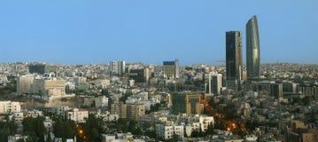 Ansicht des neuen Stadtzentrums moderner Gebäude Ammans Stockfoto