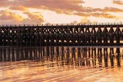 Ansicht des New-Haven Hafens nahe Seaford, Großbritannien Stockfotografie