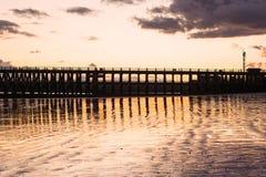Ansicht des New-Haven Hafens nahe Seaford, Großbritannien Lizenzfreie Stockfotografie