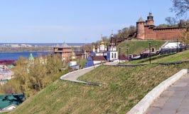 Ansicht des Nischni Nowgorods der Kreml Stockbilder