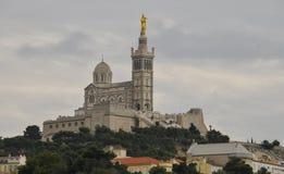Ansicht des Notre-Dame-De-La Garde stockbilder