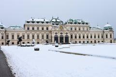 Ansicht des oberen Belvedere-Palastes stockbild