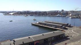 Ansicht des Oslo-Fjords von der Festung von Akershus stock video