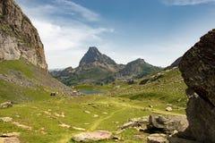 Ansicht des ` Ossau Pic du Midi s d in den französischen Pyrenäen stockfoto