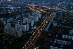 Ansicht des Ostankino-Bezirkes in Moskau Lizenzfreies Stockbild