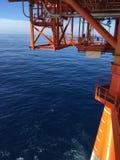 Ansicht des Ozeans von der Plattform Lizenzfreie Stockbilder
