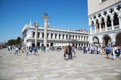 Ansicht des Palastes von St Mark und von Dogen, Venedig, Italien - 20. Juni 2017 Lizenzfreie Stockbilder