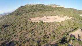 Ansicht des Panorama-360° über Mallorcas-Küstenlinie - Luftflug, Mallorca stock footage