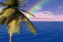 Ansicht des Paradieses Stockbild