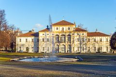 Ansicht des Parks von Landhaus della Tesoriera in Turin, Piemont Stockbild