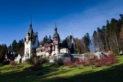 Ansicht des Peles Schlosses, Sinaia, Rumänien Stockfoto