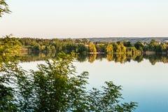 Ansicht des Peschanoe Sees in Ukraine lizenzfreies stockfoto
