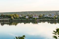 Ansicht des Peschanoe Sees in Ukraine lizenzfreies stockbild
