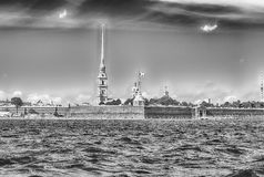 Ansicht des Peter und des Paul Fortresss, St Petersburg, Russland Stockbild