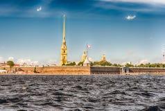 Ansicht des Peter und des Paul Fortresss, St Petersburg, Russland Stockfoto