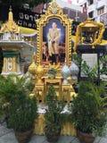 Ansicht des Porträts neuen Königs von Thailand Stockbild