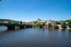 Ansicht des Prag-Schlosses stockbild