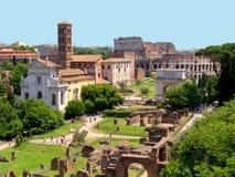 Ansicht des römischen Forums Stockfotografie