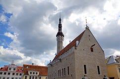 Ansicht des Rathauses. Stockbilder
