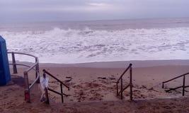 Ansicht des rauen Meeres Stockfoto