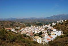 Weißes Dorf, Iznate, Andalusien, Spanien. Lizenzfreie Stockfotos