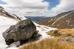 Ansicht des Remarkables-Berges Stockbild