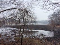 Ansicht des Reservoirs Stockfotos