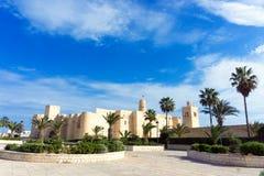 Ansicht des Ribat von Monastir, Tunesien lizenzfreie stockfotos