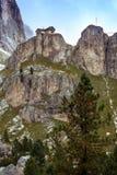 Ansicht des Rifugio Vajolet Lizenzfreies Stockfoto