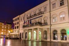 Ansicht des Rijeka-Rathauses, Kroatien Lizenzfreies Stockfoto