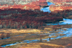Ansicht des River Valley. Stockfotos