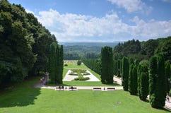 Ansicht des Rose Tales vom Ausblick Kislovodsk-Erholungsort Park Stockfoto
