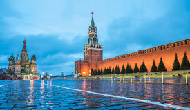 Ansicht des Roten Platzes an der Dämmerung Lizenzfreie Stockbilder