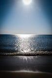 Ansicht des sandigen Strandes Stockfotografie